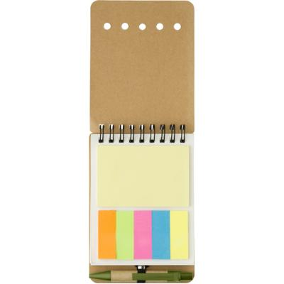 Image of Custom Wire bound notebook with sticky notes