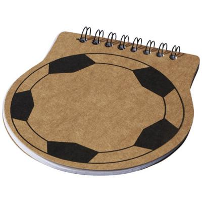 Image of Custom Score football shaped notebook