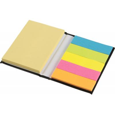 Image of Hard cover notebook with sticky notes